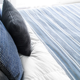 Tailrace Bed Blanket - Blue