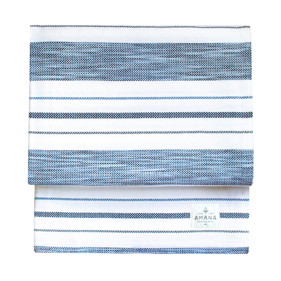 Tailrace Bed Blanket - Bleach White/Space-Dyed Blue