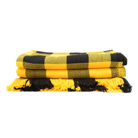 Iowa Hawkeye Rob Roy Cotton Throw - Black & Gold