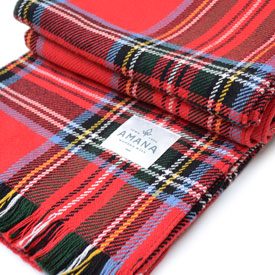 Royal Stewart Tartan Cotton Throw