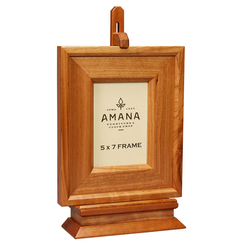 5 X 7 Wooden Picture Frame With Stand Amana Furniture Clock Shop