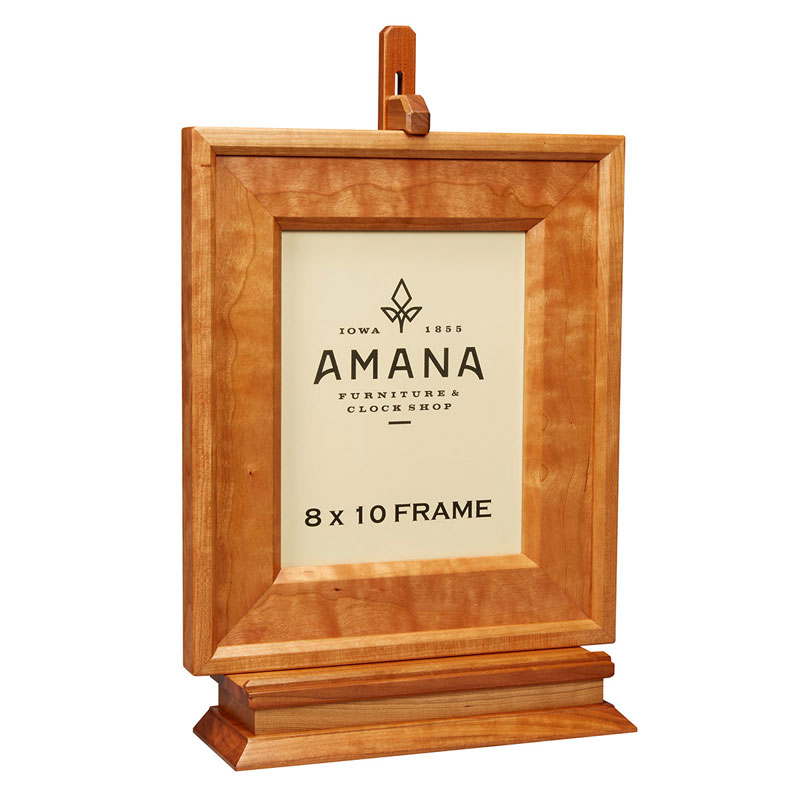 8 x 10 wooden picture frame with stand amana furniture clock shop. Black Bedroom Furniture Sets. Home Design Ideas