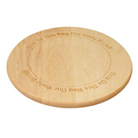Amana Round Maple Cutting Board with engraving