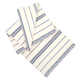 Amana Weave Table Runner - Natural/Navy