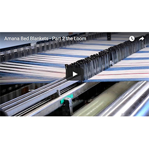 Amana Bed Blanket on the Loom video