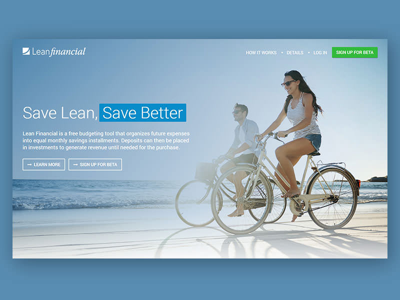 Lean Financial Home Page