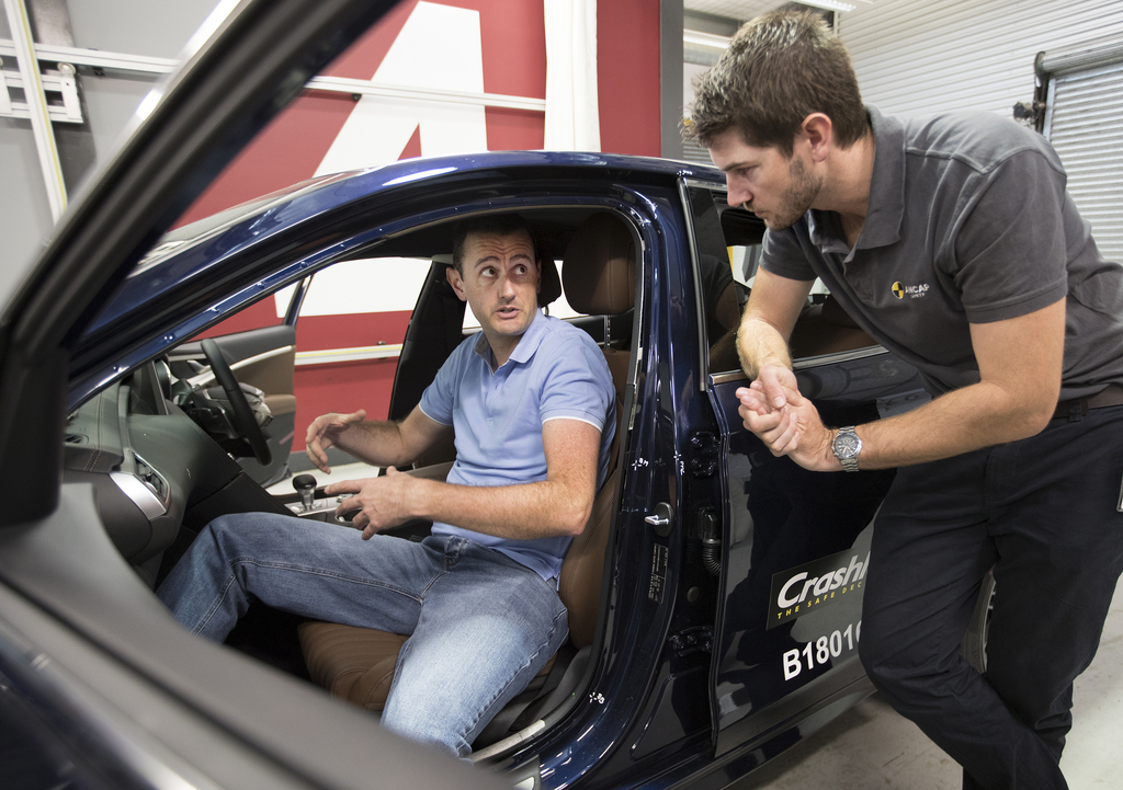 Euro NCAP assessment inspector in Australia as part of world region alignment.