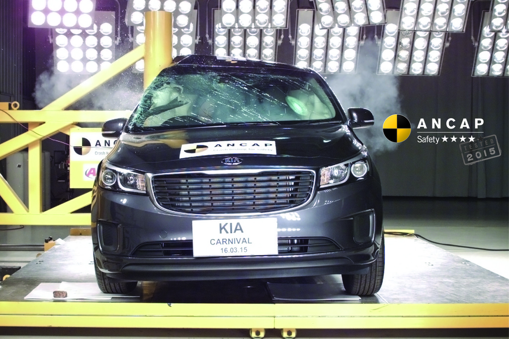 Below par crash performance sees new Kia Carnival fail to reach 5 stars