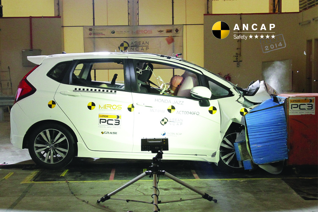 Data sharing across NCAPs sees the latest model Honda Jazz score 5 stars