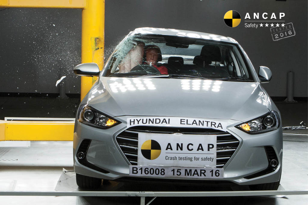 New Hyundai Elantra awarded 5 stars for safety along with Kia Picanto