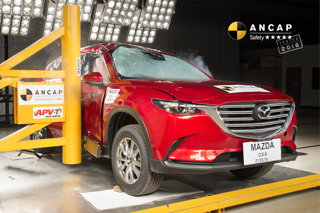 Never-before-rated Mazda CX-9 enters the ANCAP ledger with 5 stars