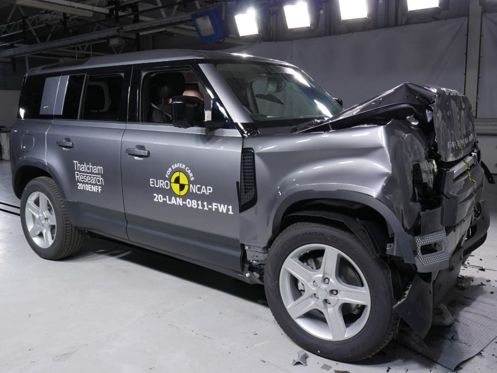 Stellar safety performance from Kia Sorento and Land Rover Defender.