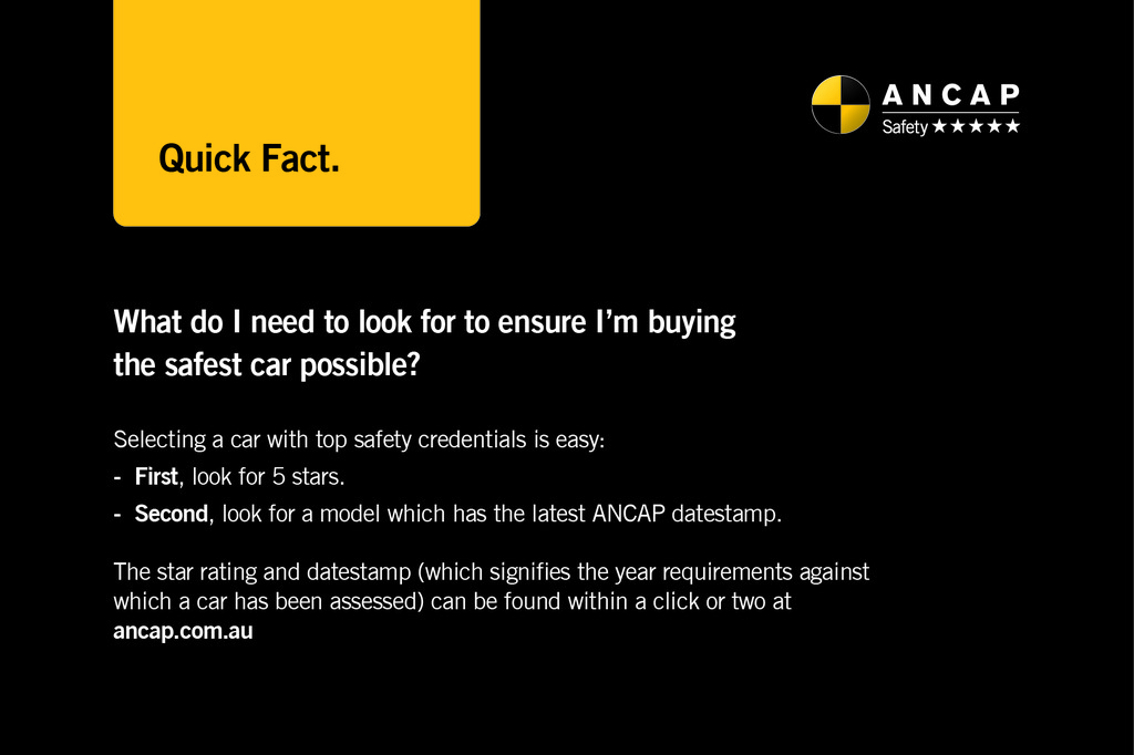 ANCAP Quick Fact: Buying safe is easy