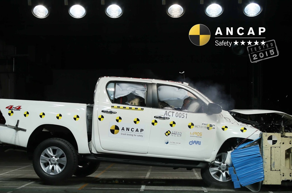 New Hilux aces 5 star ANCAP safety rating requirements