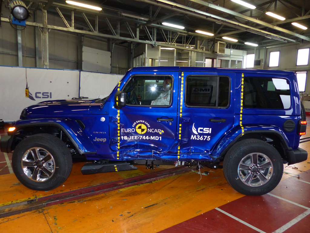 Upgrades to Australasian Jeep Wrangler increase its safety rating to 3 stars.