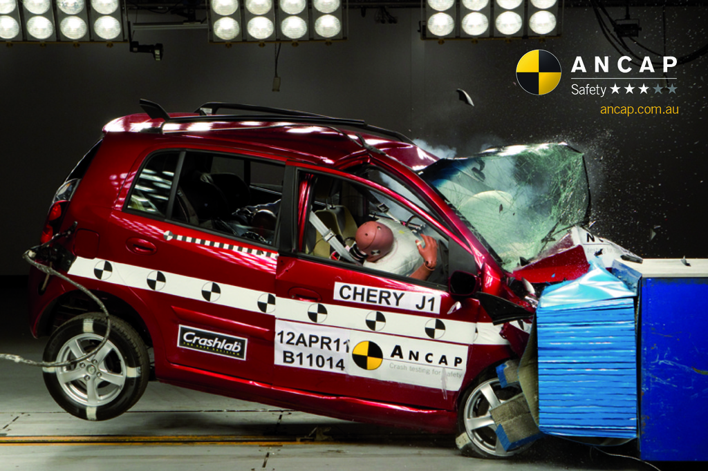 Camry improves to 5 stars - first Chery gets a 3 star safety rating