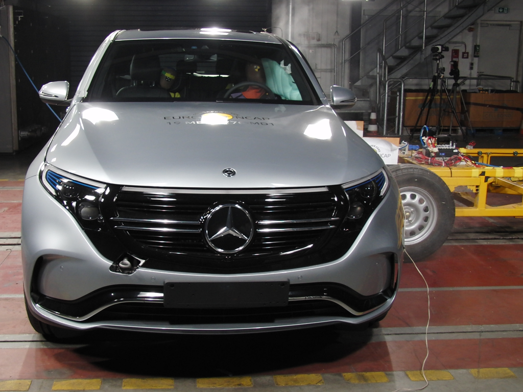 Mercedes-Benz's first all-electric vehicle, the EQC, offers 5 star safety along with Corolla sedan.