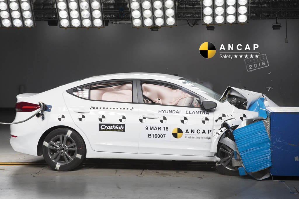 Hyundai Elantra (Feb 2016 – onwards) Crash Test Results | ANCAP