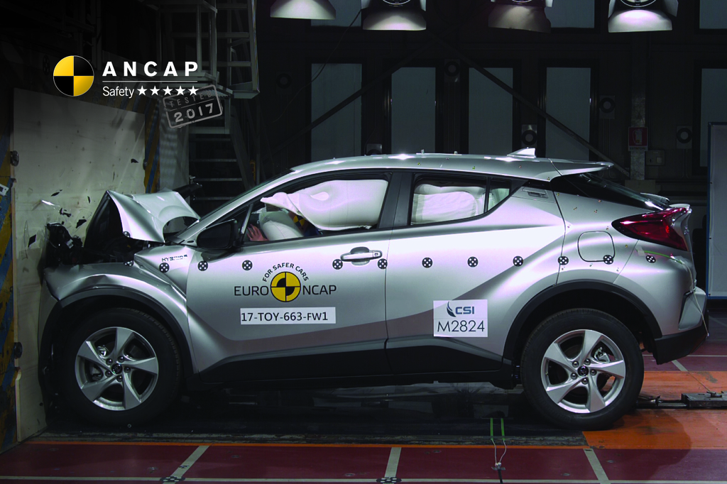 New entrant, top rating - Toyota C-HR scores 5 safety stars.