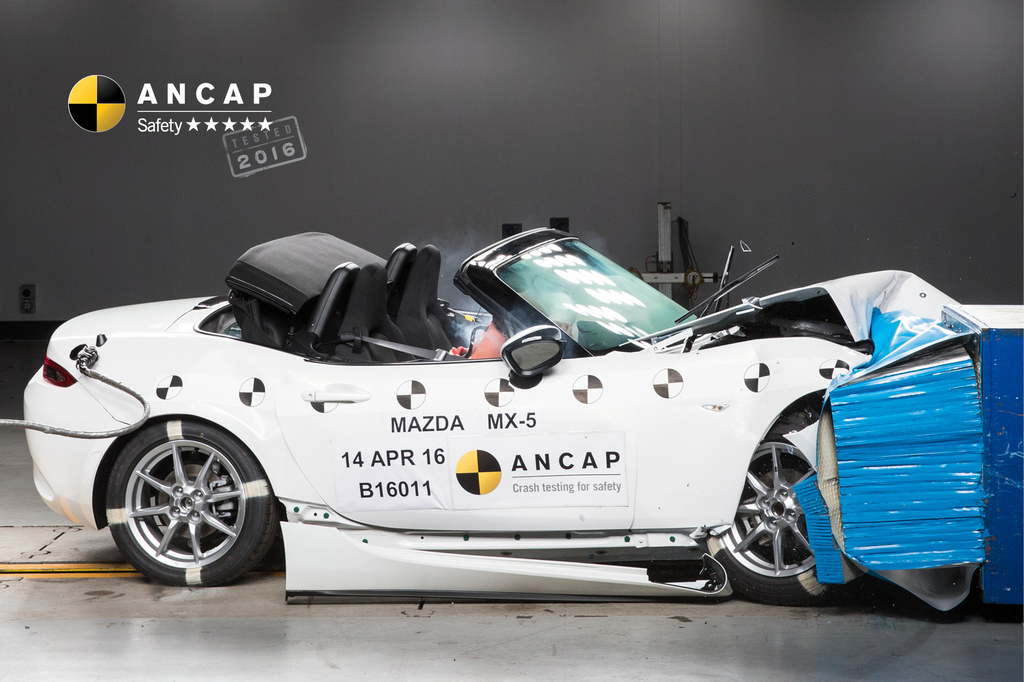 A safety high-five for popular sports car, Mazda MX-5