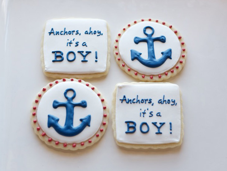 Anchors Ahoy! It's A Boy! Cookie