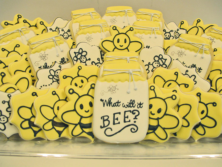 What Will It Bee? Baby Shower Cookies.