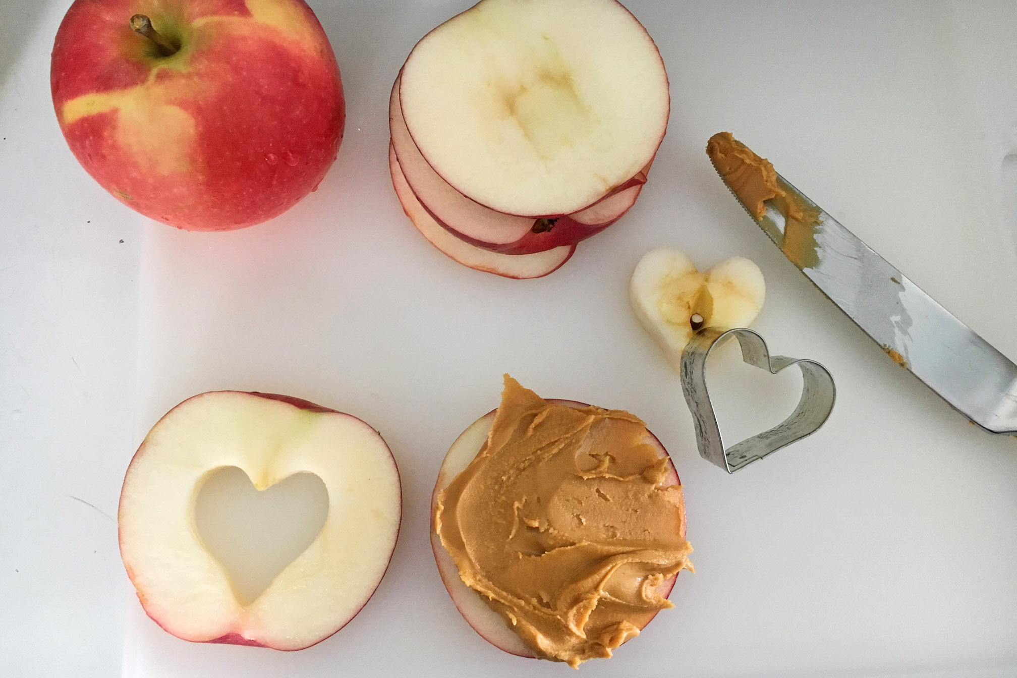 Making An Apple Peanut Butter Sandwich