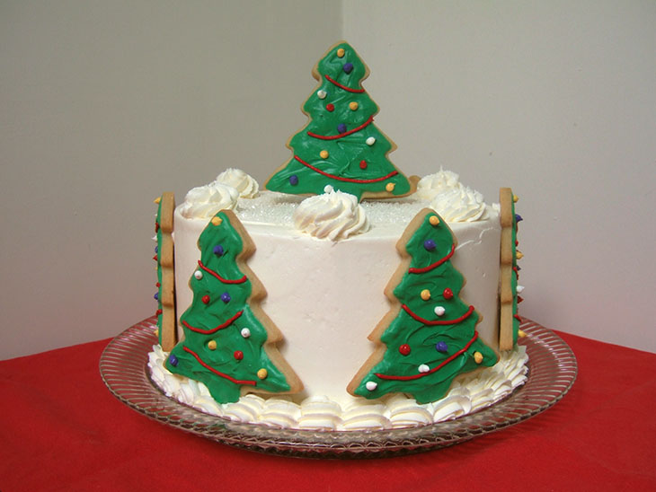 Blog Christmas Cake with Cookies