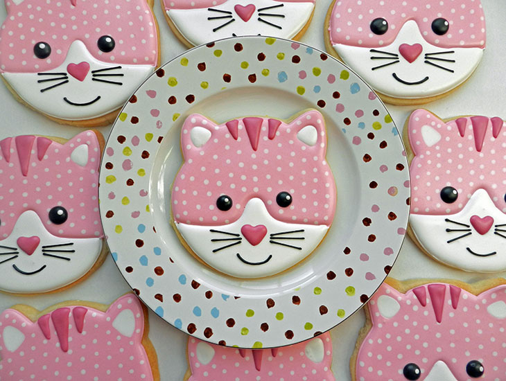 Cat Face Cookies