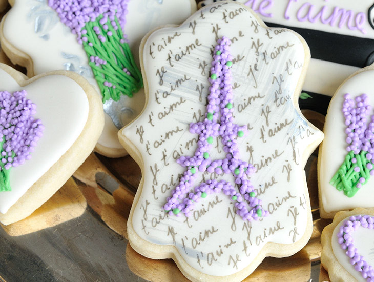 Lavender Plaque Cookies