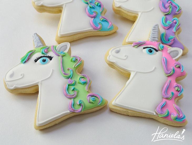 Unicorn Head Cookies