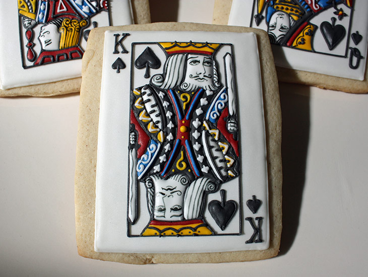King of Spade Card Cookie