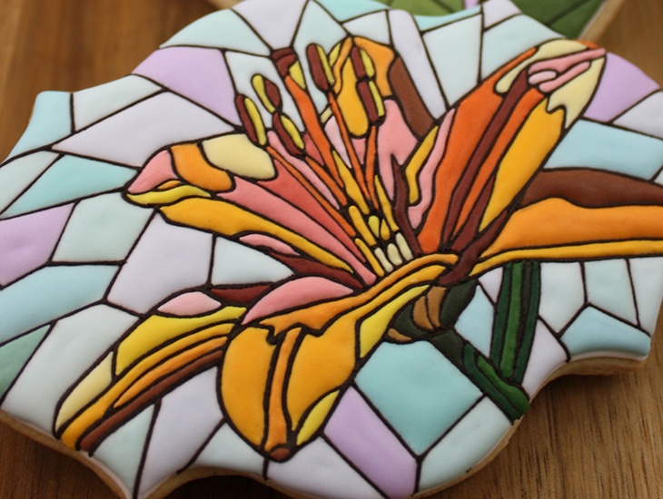 Stained Glass Flower Cookies