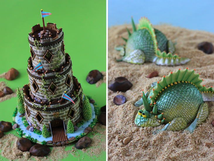3-D Castle & Dragon Cookies