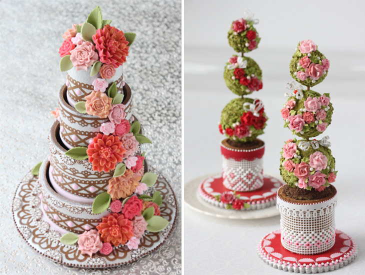 4 Tier Cake Cookie & Cookie Topiaries