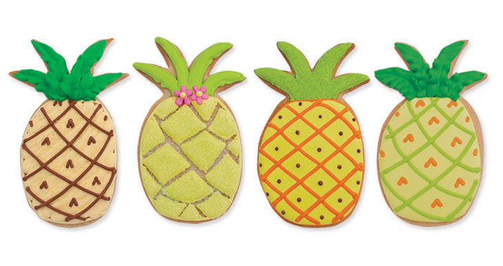 Decorated Pineapple Cookies