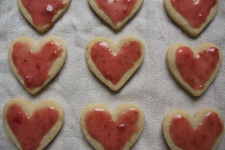 Hearts with Strawberry Glaze