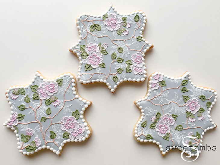 Fabric Inspired Cookies