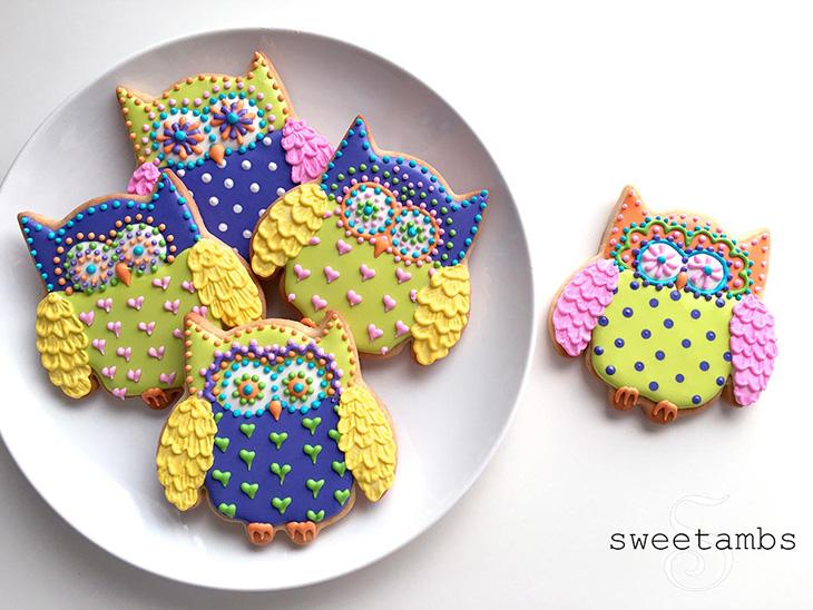 Festive Owl Cookies