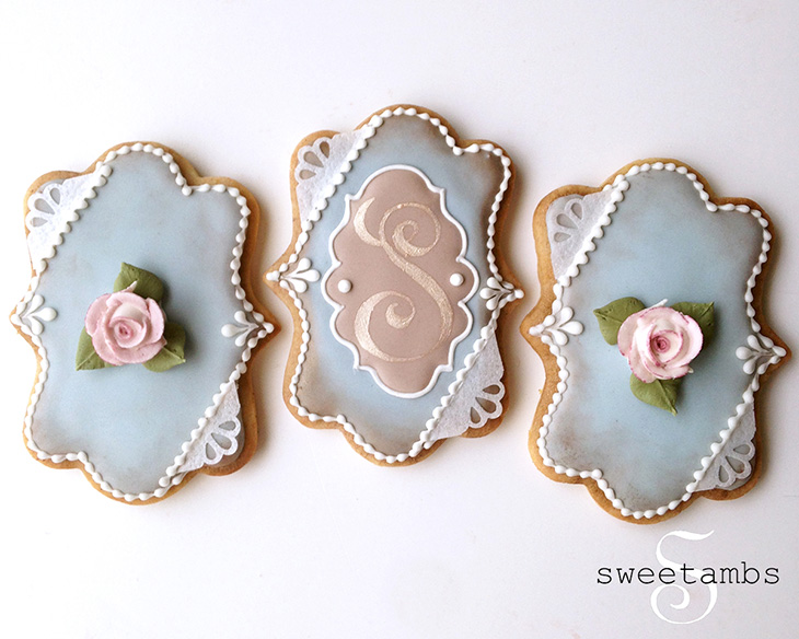 Floral Plaque Cookies