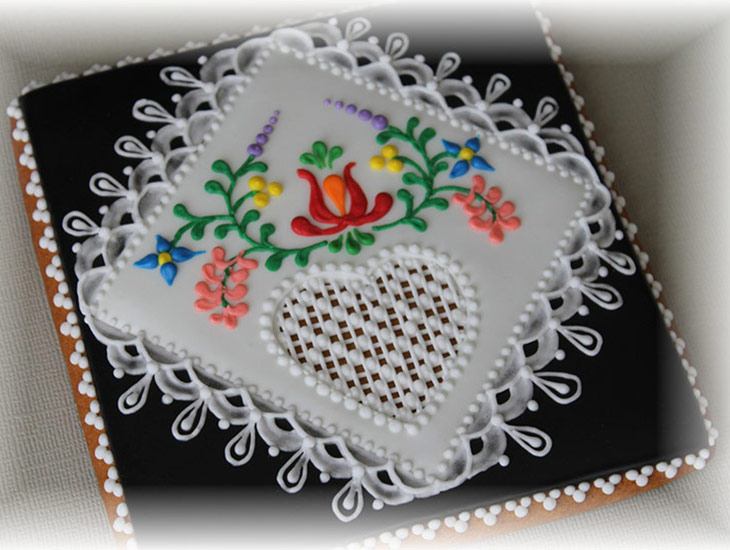 Traditional Hungarian Folk Art Cookies