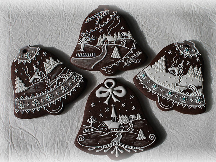 Traditional Hungarian Bell Cookies