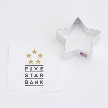 Custom Cookie Cutter - 5 Star Bank