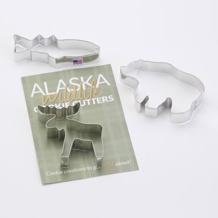 Custom Cookie Cutter Set - Alaska Geographic Wildlife