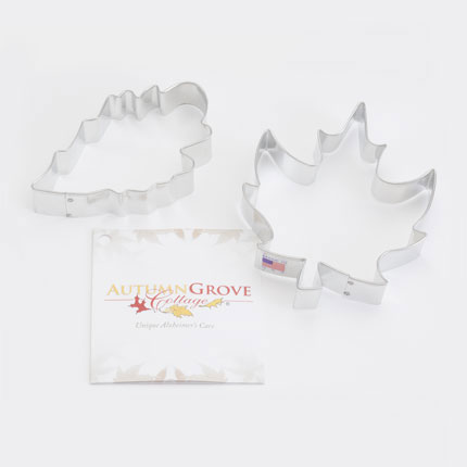 Custom Cookie Cutter Set - Autumn Grove Cottage Leaves