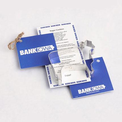 Custom Cookie Cutter - Bank Iowa