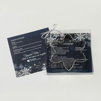 Custom Cookie Cutter - Desjardins Snowflake