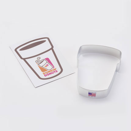 Custom Cookie Cutter - Dunkin' Donuts Coffee Cup