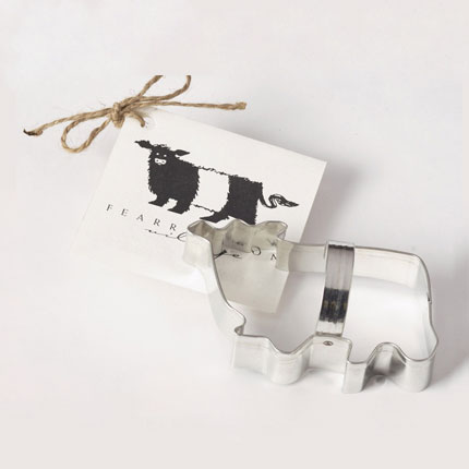 Custom Cookie Cutter - Fearrington Village Black and White Cow