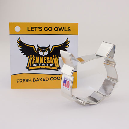 Custom-Kennesaw State Cookie Cutter